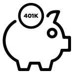 401K Piggy Bank Icon for Offload Business Solutions Human Resources and Payroll Services in Jacksonville, FL